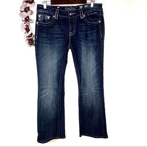 Miss Me Dark Wash Distressed Bootcut Jeans 32